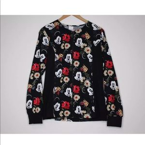 Mickey Hawaiian Floral 100% Cotton Jacket Size s